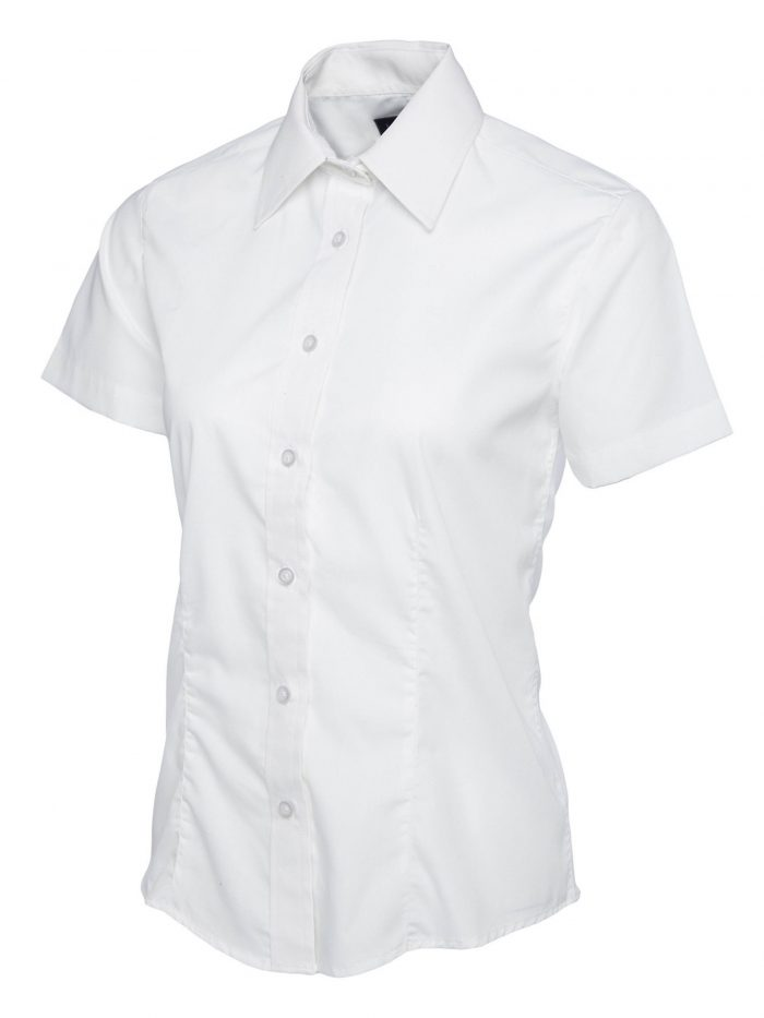 Uc Ladies Poplin Half Sleeve Shirt