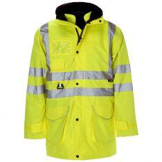 Supertouch Hi Vis Yellow 7 in 1 Parka