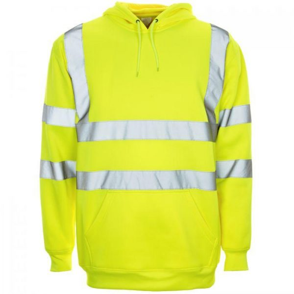 Supertouch Hi Vis Orange Hooded Sweatshirt