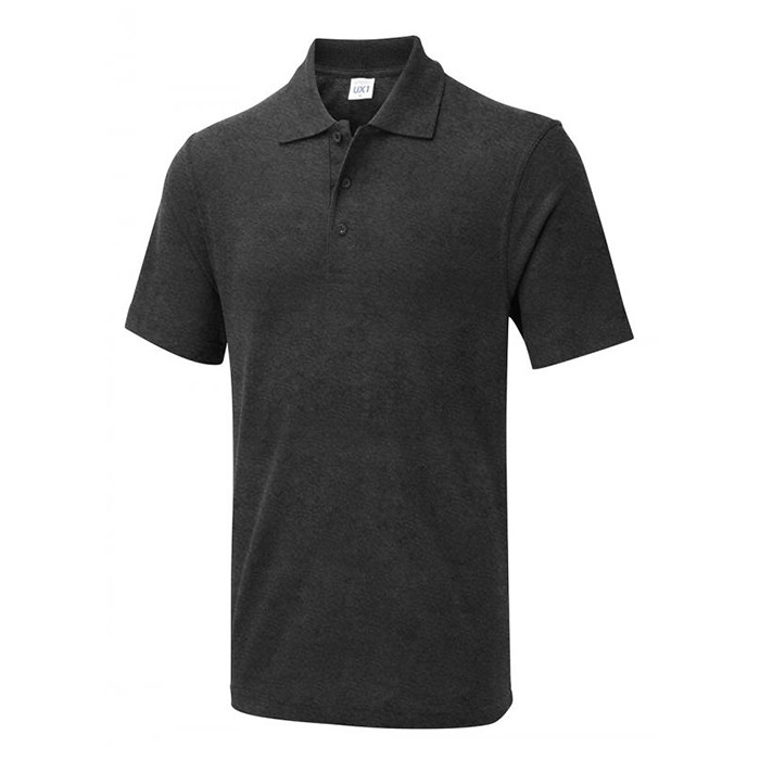 Grey 180gsm Personalised Printed Polo Shirts from UK supplier
