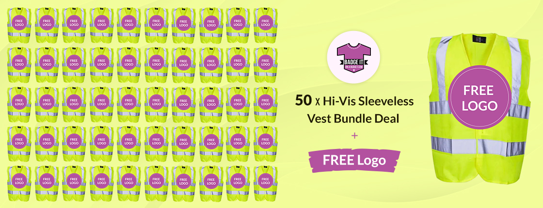 Hi Vis Sleeveless Vest Bundle Deals With Free Logo - Workwear Clothing Bundles & Deals